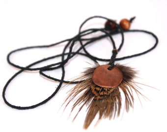 Upcycled Copper Puff Necklace