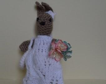 Crochet bunny rabbit, Amigurumi doll, Stuffed toy