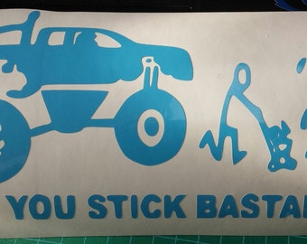 Funny stick family decal
