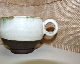 White Ceramic Mug, Handmade
