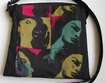 Pop Art Andy Warhol inspired cross body bag