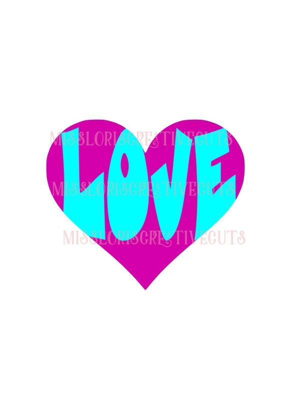 Download Items similar to Heart Love SVG Cut file Cricut explore ...