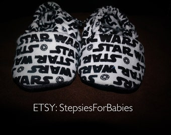 Star Wars moccasins, stepsies for babies moccasins, shoes for babies