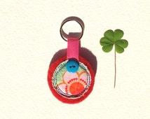 Keychain, Fabric Keychain, Handmade Keychain, Fabric Pendant,  Zipper Charm, Small Present