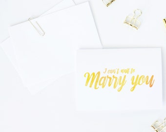 I can't wait to marry you | Engagement card for fiancee | Wedding day card for groom or bride | To my bride card | To my groom card