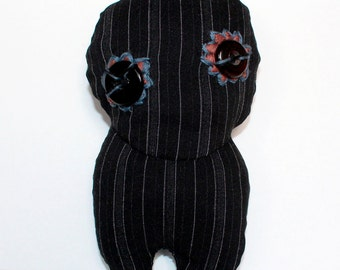 Smugglers-MYSTERAY/Ferryman-Mysteray, OOAK, Art Doll, embroidery, stripes, Soft Doll, Plush