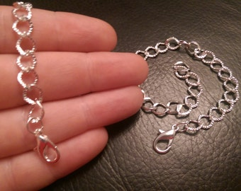 Five Silver Plated Bracelet Chains