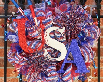 4th of July/ Memorial Day Firework Wreath