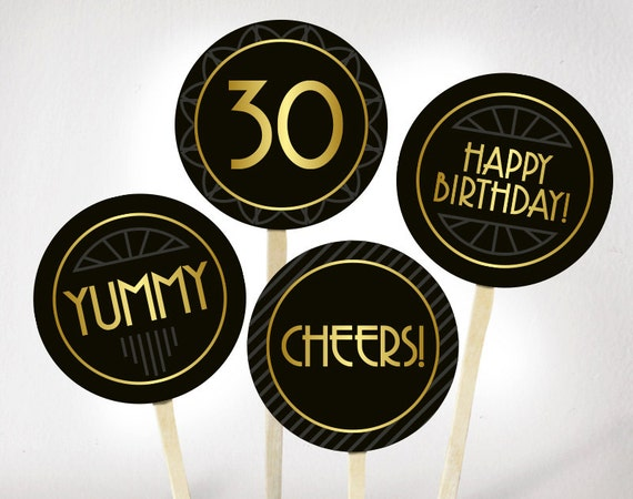 30th Birthday Cupcake Toppers Printable Pdf Printable Great