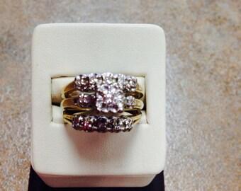 14K Vintage Ladies Diamond Wedding Set