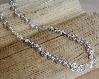 Silver Spiral Necklace in Fine Silver (Celtic), jewellery