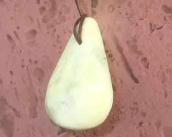 Skye marble teardrop pendant on adjustable waxed cord