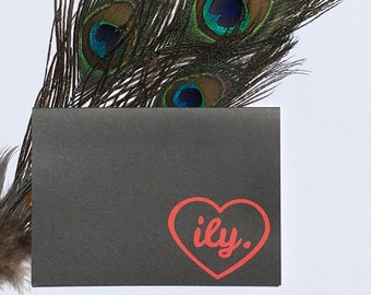 ILY | I love you Greeting card