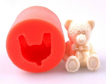 Silicone 3D Lovely Mold Teddy Bear Soap Candy Chocolate