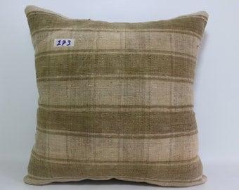 Striped Turkish Kilim Pillow 18x18 Turkish kilim pillow,decorative kilim pillow, kilim cushion cover,throw pillow SP4545-173