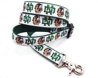 Fighting Sioux Dog Leash - White