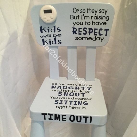 Personalized Time Out Chair Naughty Chair Word Options In