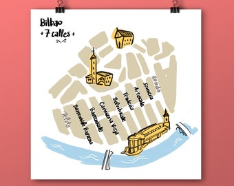 Seven streets of Bilbao