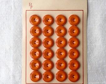Vintage Orange Buttons