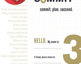 2016 Commit30 Planner - Digital Download