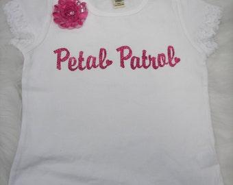 Petal patrol flower tee
