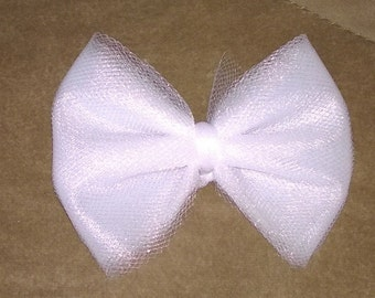 Tulle Hair Bows You Pick Color