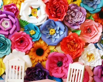 Baby shower backdrop  / Paper Flower Backdrop / Giant Paper Flowers Wall / Paper Flower Wall / Wedding Wall / Wedding Arch