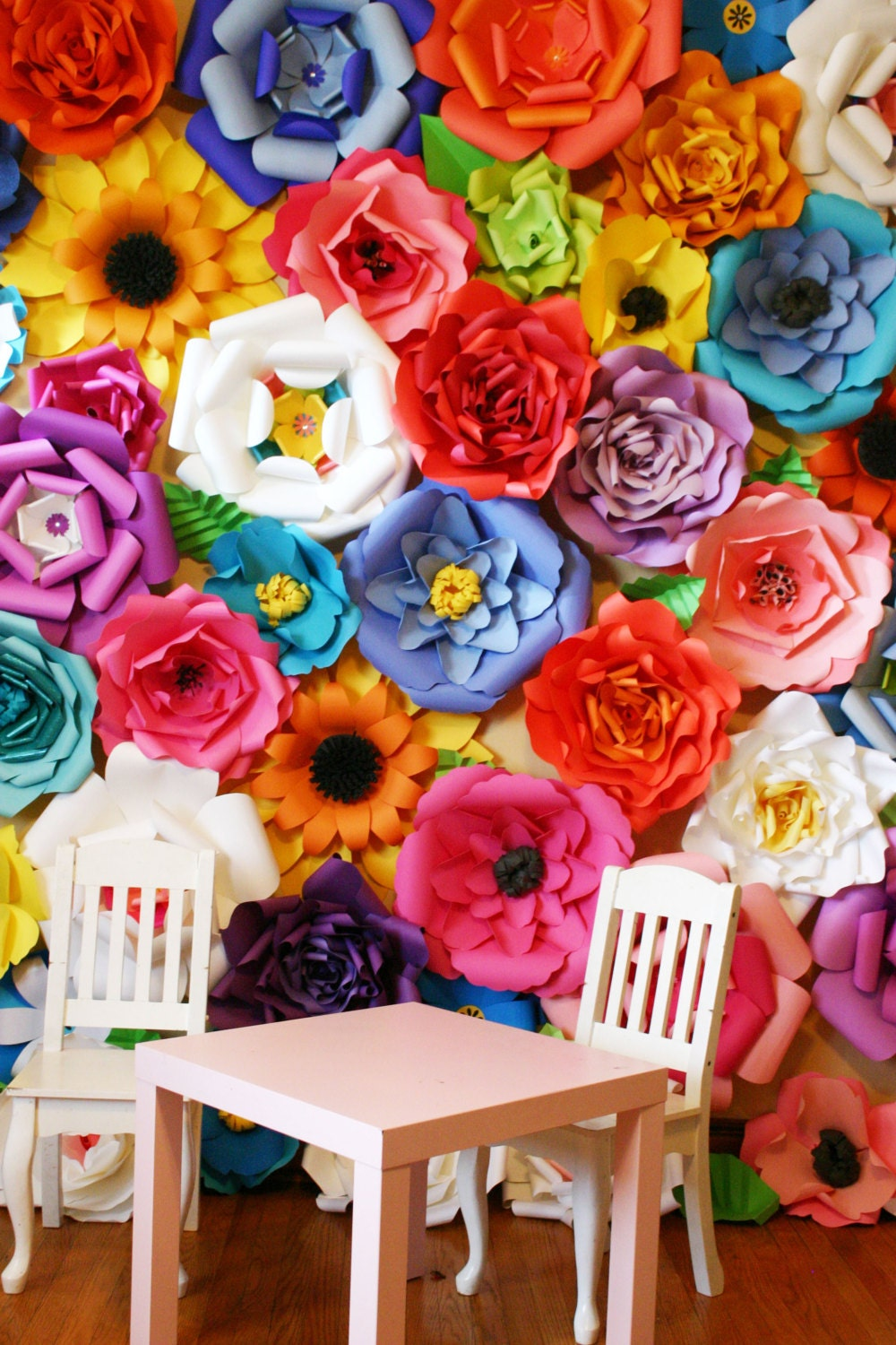 baby shower backdrop paper flower backdrop giant paper. Black Bedroom Furniture Sets. Home Design Ideas