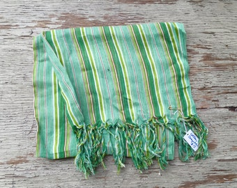Zanzibar green striped scarf