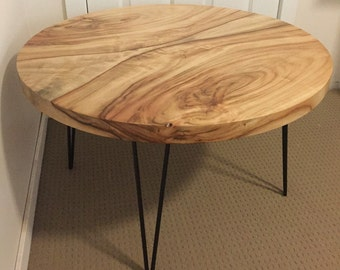 Timber Slab Coffee Table w/ Hairpin Legs - Shipping NOT Included