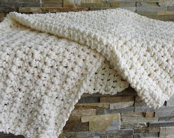 Cream Lap/Baby Blanket