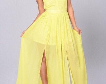 Adjustable strap maxi dress, Vneck dress, women's clothing , backless dress