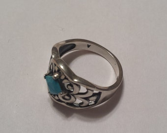 Sterling Silver .925 Turquoise Ring