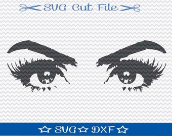 Eyes SVG File /  SVG Cut File for Silhouette / Eyelash SVG /  Pretty Eye svg/ Womens  Eyes svg