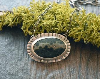 Ocean Jasper Necklace - Sterling Silver - Ocean Jasper - Modern Necklace