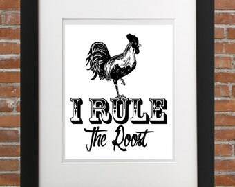 I Rule The Roost, Rooster Decor, Homedecor, Wallart, French Country, Home Accents, Country Home Decor, Roosters Charlotte, Rooster Picture