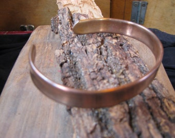 flat,shiny copper bangle