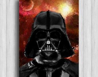Darth Vader poster star wars painting
