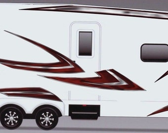 RV, Trailer, Camper, Motorhome Large Vinyl Decals/Graphics Kit-K-0002
