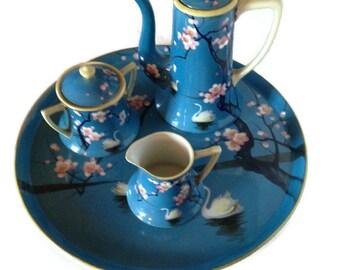 Hand Painted Nippon - Nippon Tea Set - Nippon Porcelain - Nippon China - Hand Painted Nippon Tea Set - Antique Teapots - Japanese Tea Set