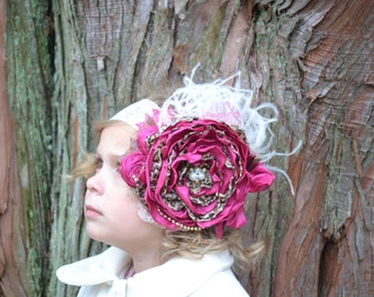 Pink and Leopard Headband, Large Flower Headband
