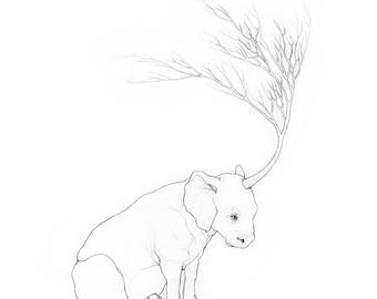 Unicorn - The Secret Nest Imaginary Animals Series - 8x8 Archival Giclee Art Print