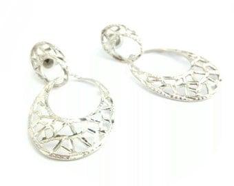 Vintage Sterling Silver Filigree Earrings