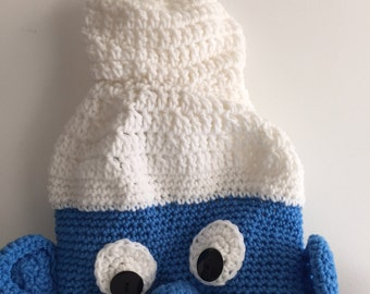 Crochet Adult Smurf Hat
