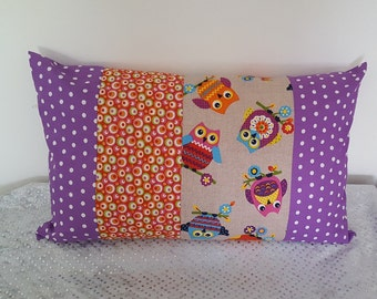 "Rectangle Cushion cover ""owls"""