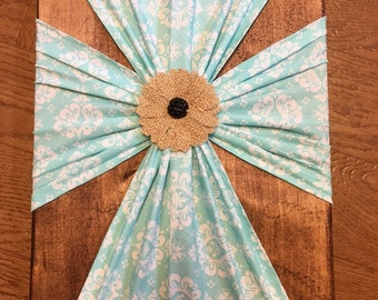 FREE SHIPPING!! Teal cross