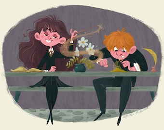 Ron and Hermione Print