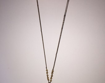 Gold and Silk Pendant Necklace