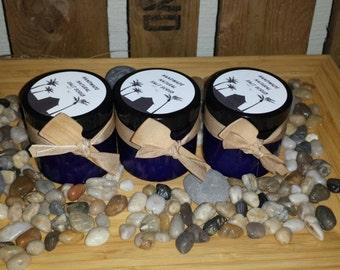 Luxurious dead sea salt scrub made with pure blood orange essential oil.