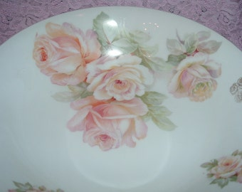 Large bowl with roses, Bavaria crown